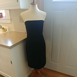 J.CREW Black Velvet Strapless Evening Dress sz 8